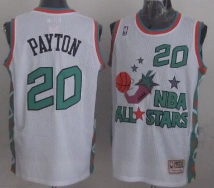 NBA 1996 All-Star #20 Gary Payton White Swingman Throwback Jersey