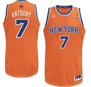 New York Knicks #7 Carmelo Anthony Orange Swingman Jersey