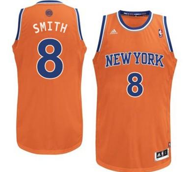 New York Knicks #8 J.R. Smith Orange Swingman Jersey