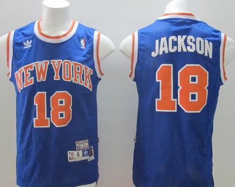 New York Knicks #18 Phil Jackson Blue Swingman Throwback Jersey