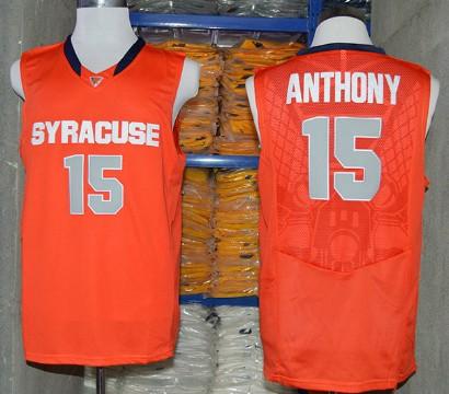 Syracuse Orange #15 Camerlo Anthony 2014 Orange Jersey