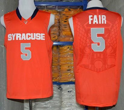 Syracuse Orange #5 C.J. Fair 2014 Orange Jersey