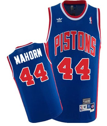 Detroit Pistons #44 Rick Mahorn Blue Swingman Throwback Jersey