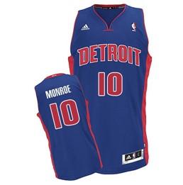 Detroit Pistons #10 Greg Monroe Blue Swingman Jersey