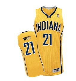 Indiana Pacers #21 David West Yellow Swingman Jersey