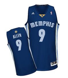Memphis Grizzlies #9 Tony Allen Navy Blue Swingman Jersey