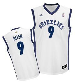 Memphis Grizzlies #9 Tony Allen White Swingman Jersey