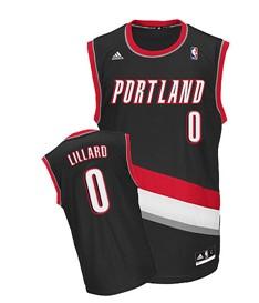 Portland Trail Blazers #0 Damian Lillard Black Swingman Jersey