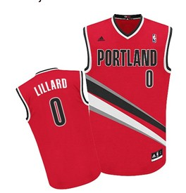 Portland Trail Blazers #0 Damian Lillard Red Swingman Jersey