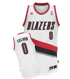Portland Trail Blazers #0 Damian Lillard White Swingman Jersey
