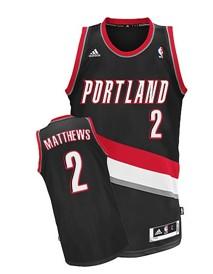 Portland Trail Blazers #2 Wesley Matthews Black Swingman Jersey