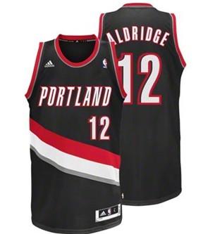 Portland Trail Blazers #12 LaMarcus Aldridge Black Swingman Jersey