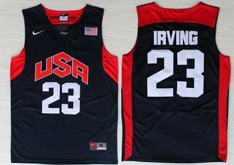 2012 Olympics Team USA #23 Kyrie Irving Revolution 30 Swingman Blue Jersey