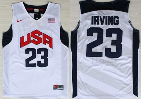 2012 Olympics Team USA #23 Kyrie Irving Revolution 30 Swingman White Jersey