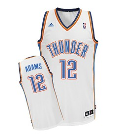 Oklahoma City Thunder #12 Steven Adams White Swingman Jersey