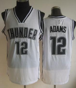Oklahoma City Thunder #12 Steven Adams White With Black Swingman Jersey