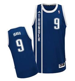 Oklahoma City Thunder #9 Serge Ibaka 2013 Navy Blue Swingman Jersey