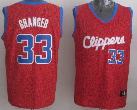 Los Angeles Clippers #33 Danny Granger Red Leopard Print Fashion Jersey