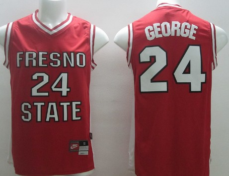 Fresno State #24 Paul George Red Jersey