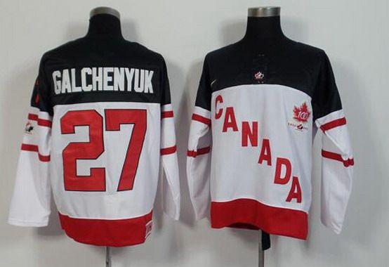 2014-15 Men's Team Canada #27 Alex Galchenyuk White 100TH Anniversary Jersey