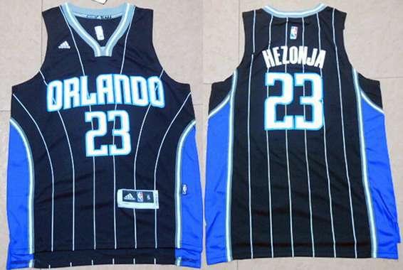 Men's Orlando Magic #23 Mario Hezonja Revolution 30 Swingman 2015 New Black Jersey