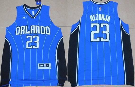 Men's Orlando Magic #23 Mario Hezonja Revolution 30 Swingman 2015 New Blue Jersey