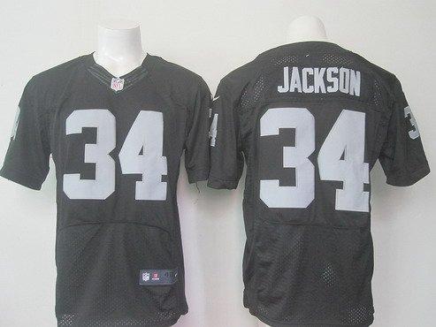 Men's Oakland Raiders #34 Bo Jackson Black Retired Player 2015 NFL Nike Elite Jersey