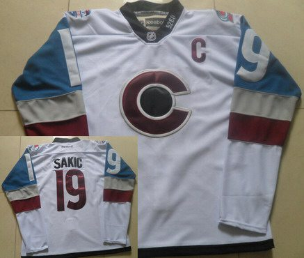 Men's Colorado Avalanche #19 Joe Sakic White 2016 Stadium Series Hockey Jersey