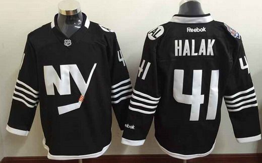 Men's New York Islanders #41 Jaroslav Halak 2015 Reebok Black Premier Alternate Jersey