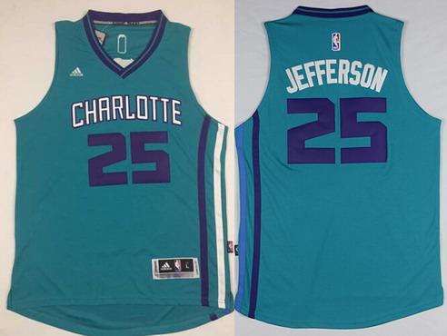 Charlotte Hornets #25 Al Jefferson Revolution 30 Swingman 2015 New Teal Green Jersey