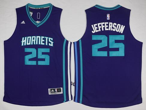Charlotte Hornets #25 Al Jefferson Revolution 30 Swingman 2015 New Purple Jersey