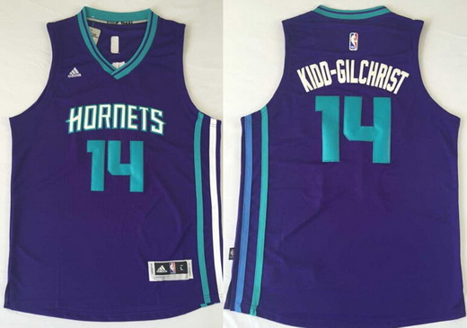 Charlotte Hornets #14 Michael Kidd-Gilchrist Revolution 30 Swingman 2015 New Purple Jersey