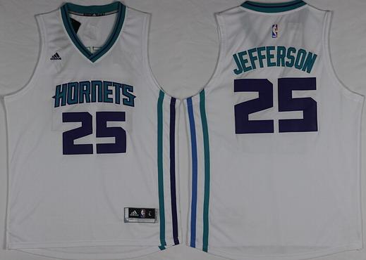 Charlotte Hornets #25 Al Jefferson Revolution 30 Swingman 2015 New White Jersey