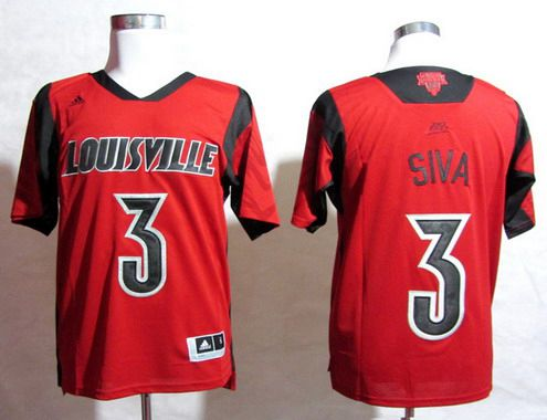 Louisville Cardinals #3 Peyton Siva 2013 March Madness Red Jersey