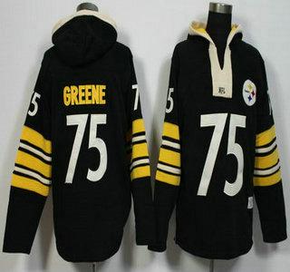 Men's Pittsburgh Steelers #75 Joe Greene Black Retired Player 2015 NFL Hoodie