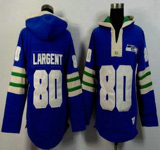 Men's Seattle Seahawks #80 Steve Largent Light Blue 2015 NFL Hoody