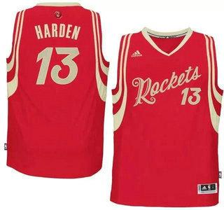 Men's Houston Rockets #13 James Harden Revolution 30 Swingman 2015 Christmas Day Red Jersey