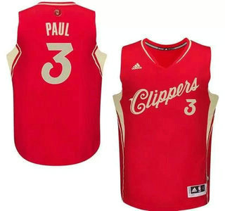 Men's Los Angeles Clippers #3 Chris Paul Revolution 30 Swingman 2015 Christmas Day Red Jersey