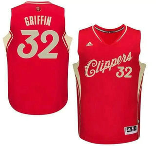 Men's Los Angeles Clippers #32 Blake Griffin Revolution 30 Swingman 2015 Christmas Day Red Jersey
