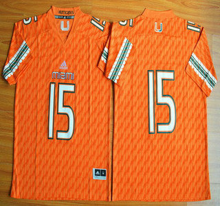 Miami Hurricanes #15 Brad Kaaya Orange 2015 College Football Jersey