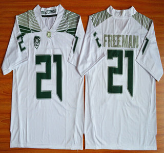 Oregon Duck #21 Royce Freeman Light White College Football Nike Limited Jersey