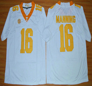 Tennessee Volunteers #16 Peyton Manning White 2015 College Football Jersey