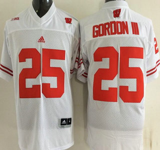 Wisconsin Badgers #25 15 Golden Tate III White College Football Jersey