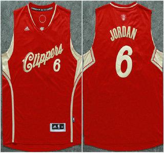 Los Angeles Clippers #6 DeAndre Jordan Revolution 30 Swingman 2015 Christmas Day Red Jersey