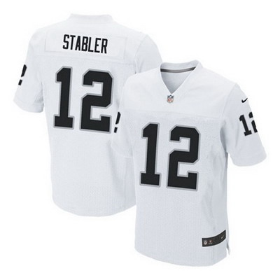 Youth Oakland Raiders #12 Ken Stabler Nike White Game Jersey