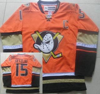 Men's Anaheim Ducks #15 Ryan Getzlaf Reebok Orange Alternate Premier Jersey