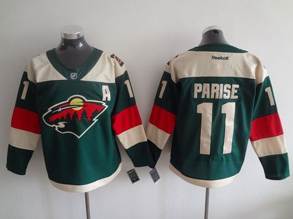 Men's Minnesota Wild #11 Zach Parise Reebok Green 2016 Stadium Series Team Premier Jersey