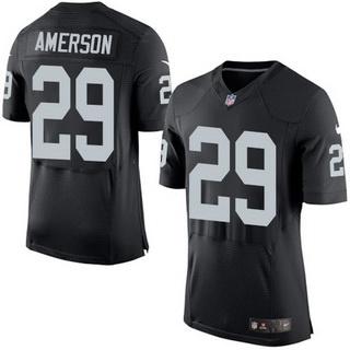 Men's Oakland Raiders #29 David Amerson Black Team Color 2015 NFL Nike Elite Jersey