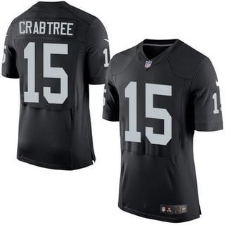 Men's Oakland Raiders #15 Michael Crabtree Black Team Color 2015 NFL Nike Elite Jersey