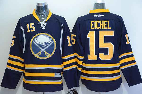 Men's Buffalo Sabres #15 Jack Eichel Home Navy Blue NHL Reebok Jersey